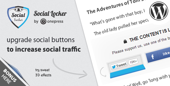 Download Onepress  Social Locker for WordPress Free (No Activation Key Required)